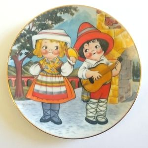 Dolly Dingle vists Italy plate